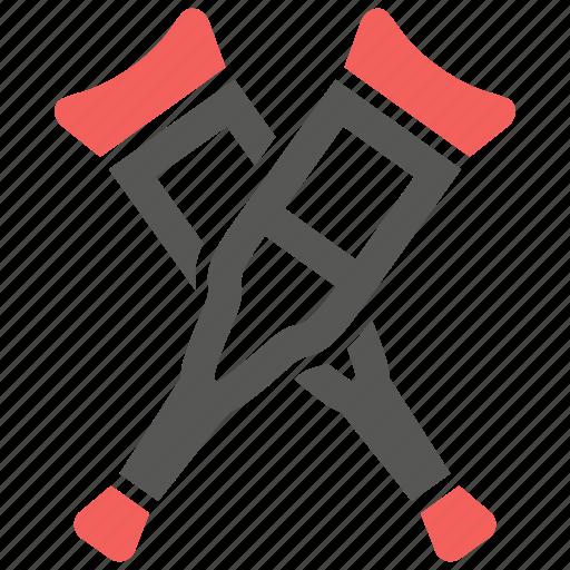 bone, broken, crutch, crutches, injury, leg icon