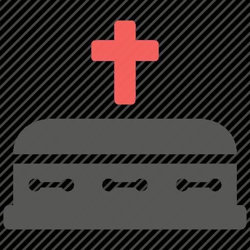 coffin, grave, gravestone, rip icon