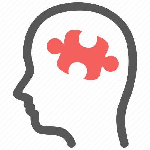 mind, psychiatry, psychotherapy, puzzle, solution icon
