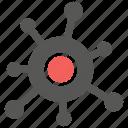 bacteria, biology, germ, virology, virus icon