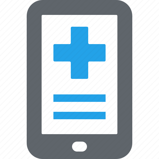healthcare, mhealth, mobile health, online medical help icon