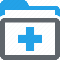 folder, health records, medical files, medical records icon