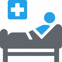 hospital bed, medical care, medical help, medical treatment, patient icon