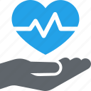 cardiogram, heart care, heart health icon