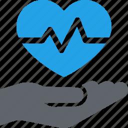 cardiogram, heart care, heart health, medical help icon