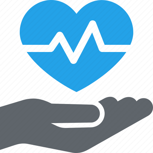 Heart care, heart health, cardiogram icon - Download on Iconfinder