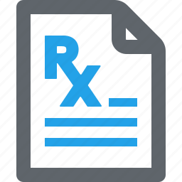 medical file, medical treatment, pharmacy, prescription icon