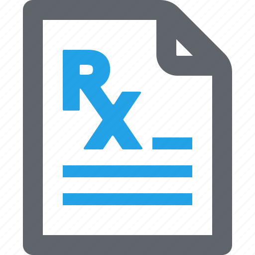 medical file, pharmacy, prescription icon