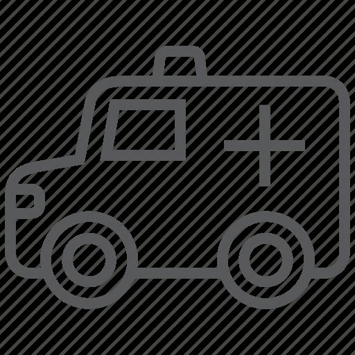 Ambulance, car, emergency, hospital, medical, transport, vehicle icon - Download on Iconfinder