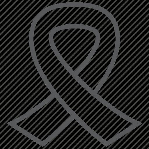 awareness, badge, disease, medal, ribbon, woman icon