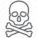 bones, crossbones, dead, death, halloween, skeleton, skull icon
