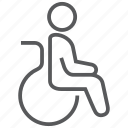 disability, disabled, handicap, hospital, paralympic, paralyzed, wheelchair icon