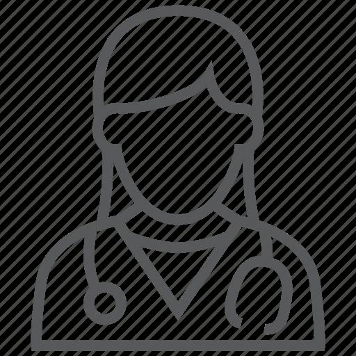avatar, doctor, female, hospital, medical, nurse, woman icon