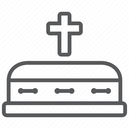 coffin, death, funeral, grave, graveyard icon