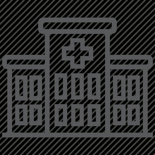 architecture, building, hospital, medical, medicine icon