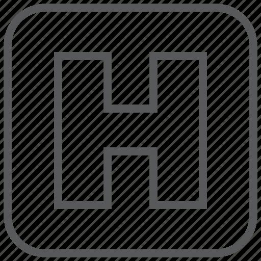 health, hospital, medical, medicine, sign icon