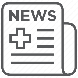 headlines, healthcare, medical, news icon