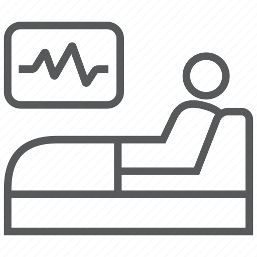 bed healthcare patient reanimation recover room supervision icon