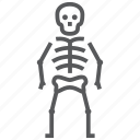 bone, halloween, horror, osteology, skeleton, skull icon
