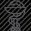 doctor, drugs, healthcare, hospital, medicine, pharmacy, snake icon