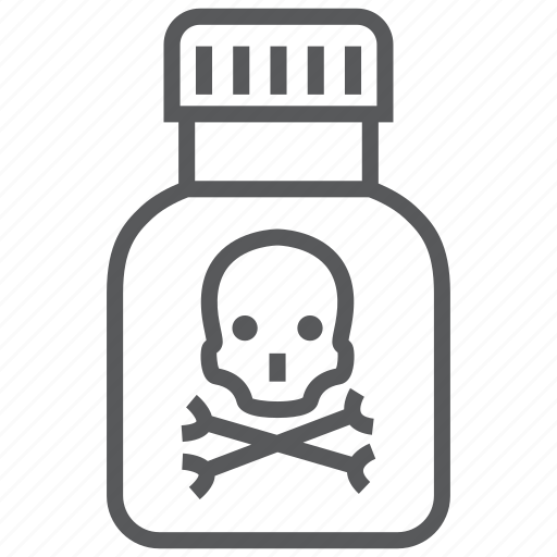 danger, death, drug, medication, poison icon