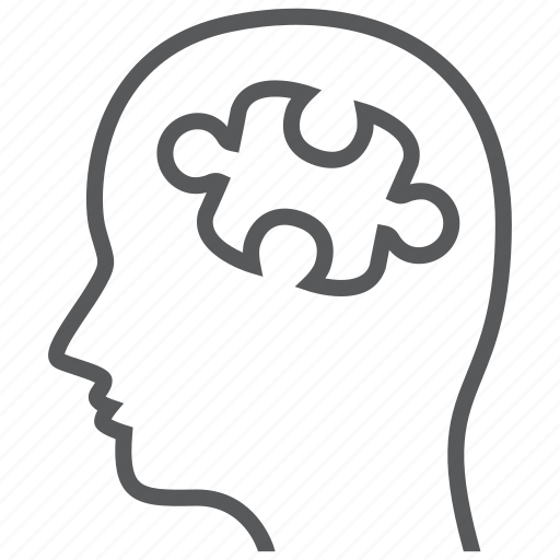 health, mental, psychiatry, psychology, psychotherapy, puzzle icon
