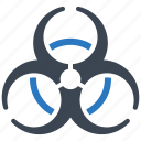 biological hazard, danger, health risk icon