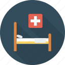 bed, health, hospital, medical icon icon