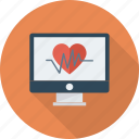 heart, medicine, monitor, pulse icon icon
