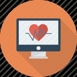 heart, medicine, monitor, pulse icon icon