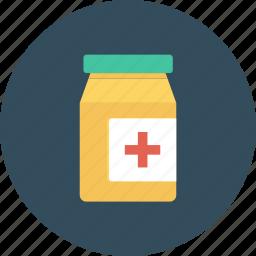 jar, lozenge, medicine, pellet, plastic, tablet icon icon