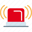 alarm, alert, bell, emergency, fire, light, signal, warning icon