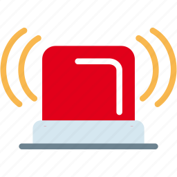 alarm, alert, bell, emergency, fire, light, signal, warning icon
