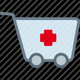 cart, drug, medication, medicine, pharmacy, pills icon