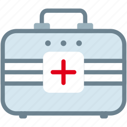 aid, box, emergency, first, injury, medical icon