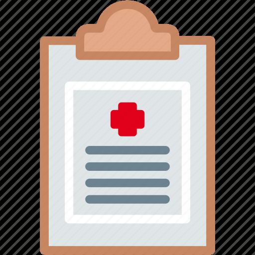 clipboard, diagnosis, medical, paper, prescription, report icon