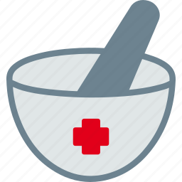healthcare, medicine, mortar, pestle, pharmacy icon