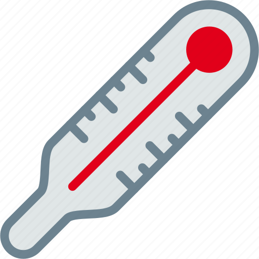 cold, fever, hot, temperature, thermometer, weather icon