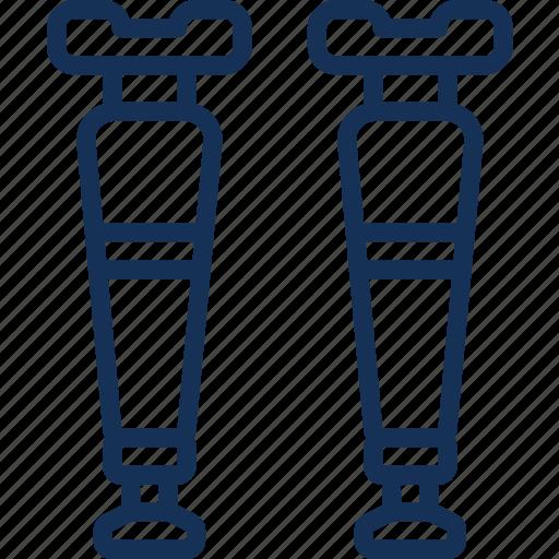 care, crutches, equipment, hospital, medical, treatment icon