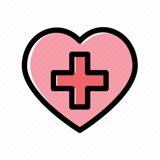 care, donate, heart, ic, medical icon