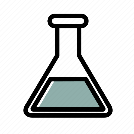 beaker, ic, medical, test icon