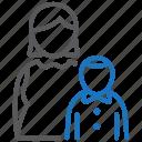 child, mother, pediatrics icon