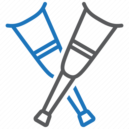 Crutches, medical equipment icon - Download on Iconfinder