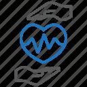 cardiogram, heart care, heart health icon