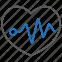 cardiogram, heart health, heartbeat icon
