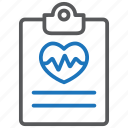 cardiogram, health test, medical care icon