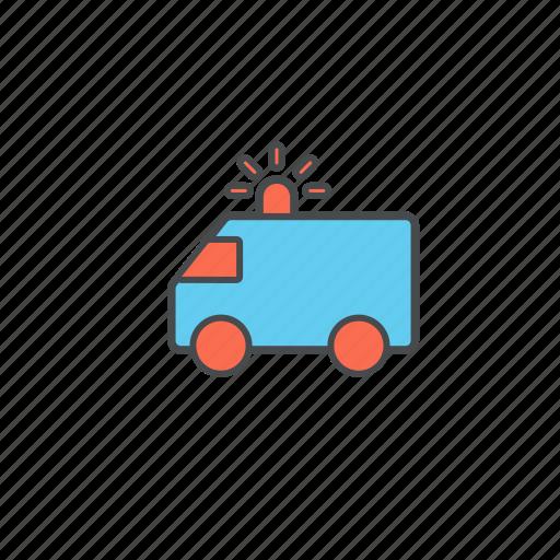 ambulance, doctor, heath, hospital, medical, transport icon