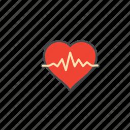 cardiogram, ecg, electrocardiogram, heartbeat, lifeline, pulsation icon