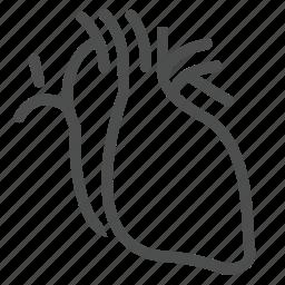 body, care, health, heart, part, pulse, realistic icon