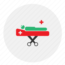 bed, hospital, medical, patient icon